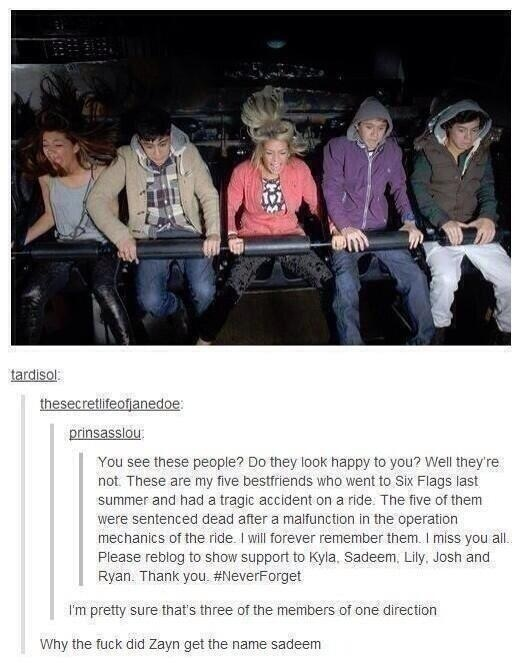 """Hahaha Sadeem.. These crack me up. """"I'm pretty sure that is three members of one direction."""""""