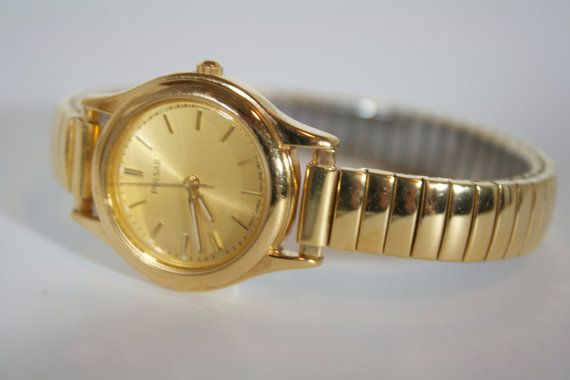 Vintage Gold Tone Women's Pulsar Wrist Watch Not by patchoulired, $25.00
