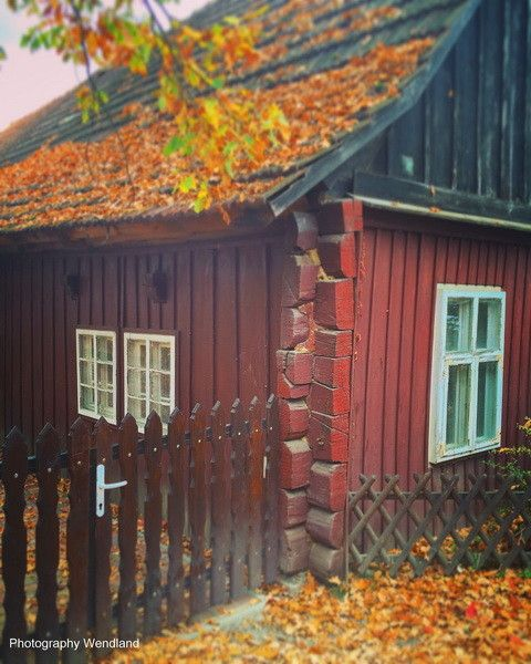 altes Holzblockhaus in Lehde