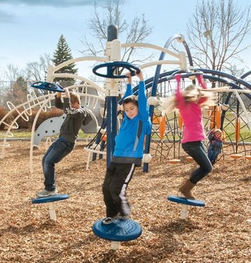 the single orbiter spinner offers kids a great way to learn about motion on the playground commercial playground by - Commercial Playground Equipment