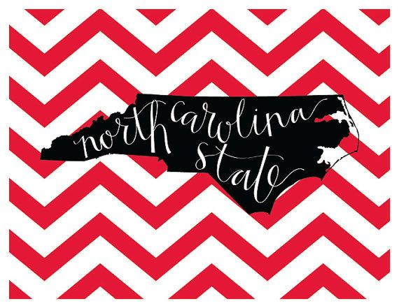 NC State University Print by evannicoledesigns on Etsy