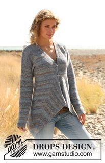 """Knitted DROPS jacket in """"Fabel"""". Size: S - XXXL. ~ DROPS Design"""