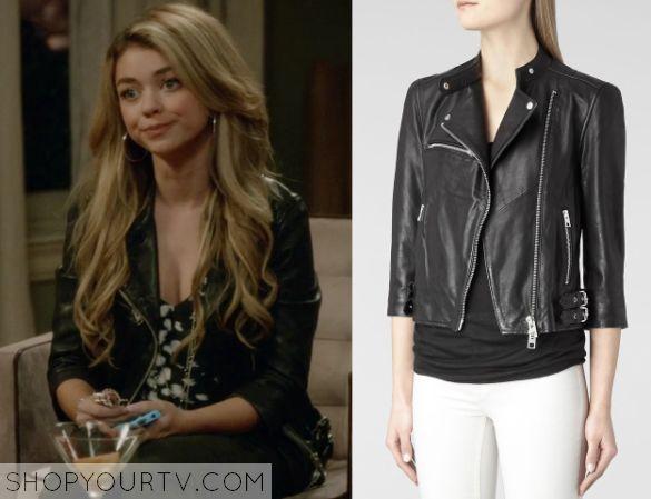 Modern Family: Season 6 Episode 20 Haley's Black Leather Jacket