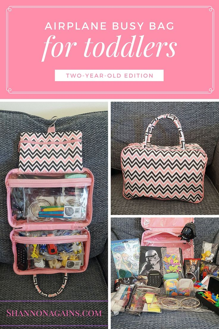 Airplane busy bag for toddlers (two-year-old edition)