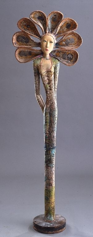 Camille VandenBerge | Sculptures | Flower http://csculpture.com/sculptures/sculptures.html