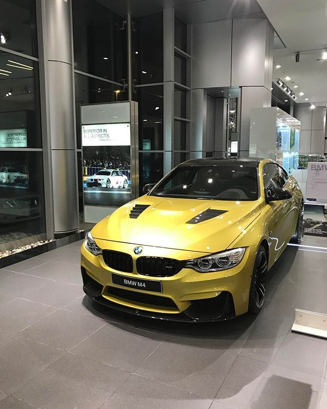 Instagram media by abudhabi_motors - Bmw M4 Austin yellow  6 Cylinders inline Twin Turbo 431 Hp Torque 550 NM  0-100 4,1 Sec  Weight 1590 kg  For price and other enquiry contact Rami Nasri 00971508016869 @Abudhabi_Motors  @MiniCooperJCW #AbuDhabi_Motors ______________________________________________ #AbuDhabiMotors#BMW #M4 #BMWM4 #F82 #BMWF82 #AbuDhabi #Dubai #UAE  #BMWLIFE #BMWM #BMWWORLD  #Bimmer #Mpower  #BMWREPOST #SheerDrivingPleasure #BMWSTORIES #IDRIVE #BMWI