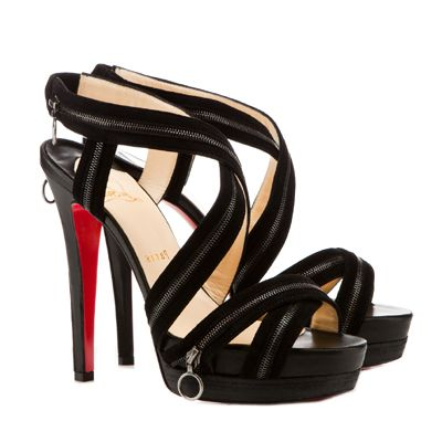 Christian Louboutin Trailer 140 Platform Sandals Black #Shoes #RedBottoms # ChristianLouboutin #Sandals
