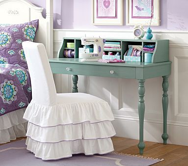 sweet color...Whitney Writing Desk & Hutch #WilliamsSonoma: Writing Desks, Desks Chairs, Barns Kids, Desks Hutch, Pottery Barn Kids, Chairs Covers, Pottery Barns, Desk Hutch, Girls Rooms