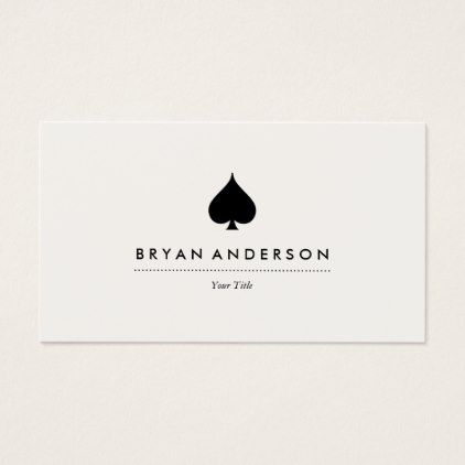 Black Spade Symbol Business Card - black gifts unique cool diy customize personalize
