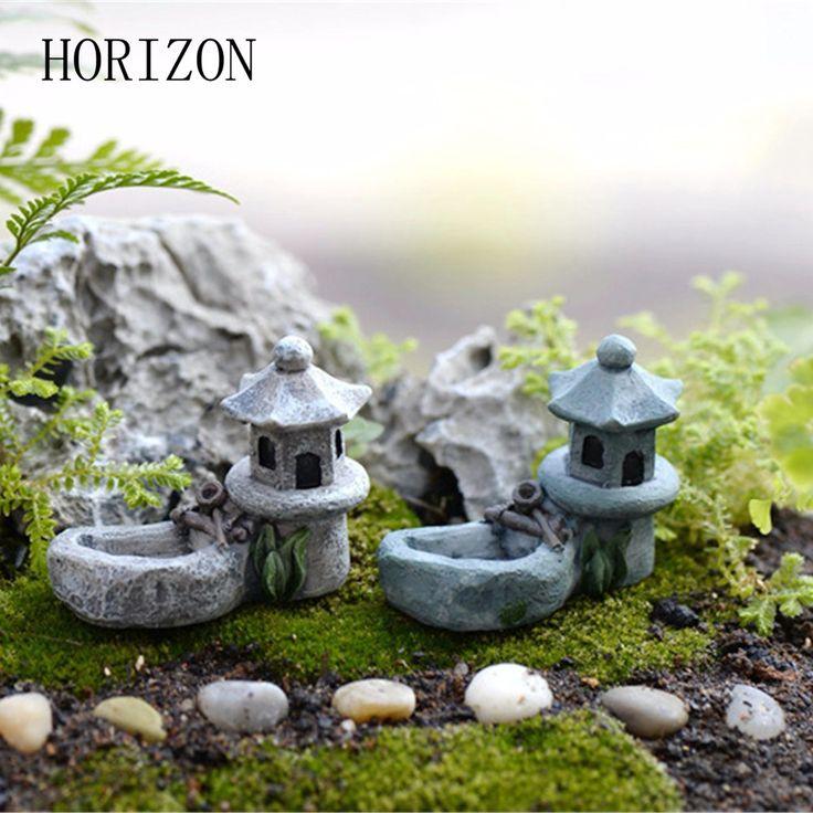 Aliexpress.com : Buy New 1pcs Vintage Artificial Pool Tower Miniature Fairy Gard… – Plantsssuh & Garden