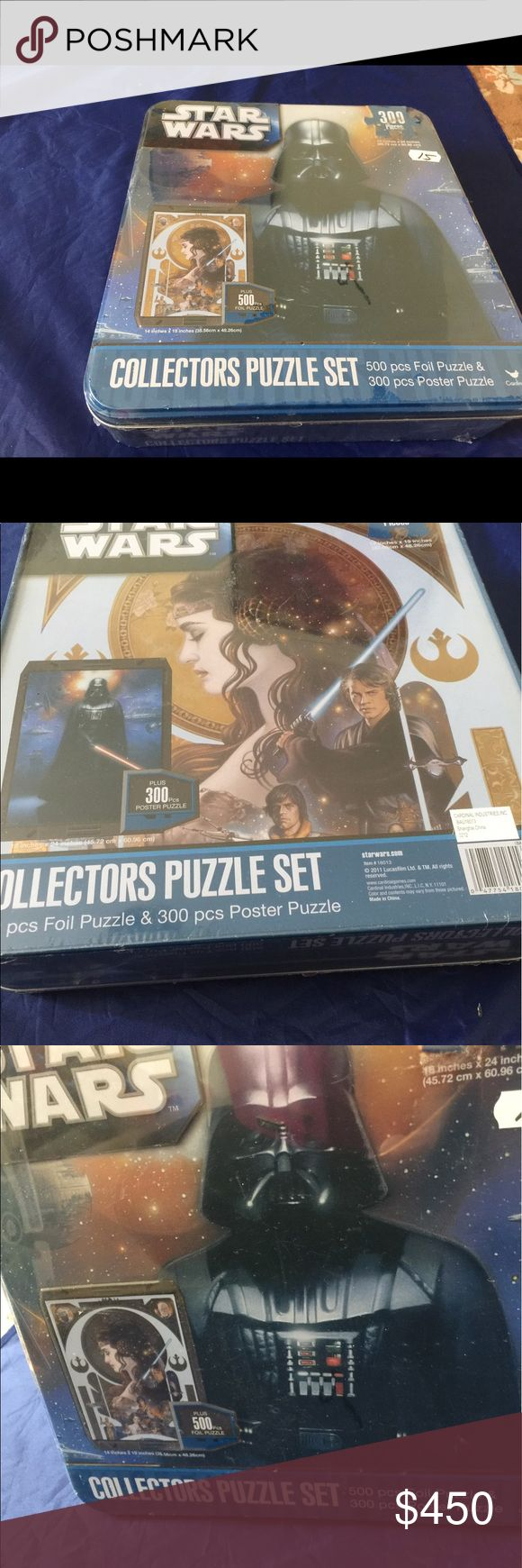 COLLECTOR PUZZLE SET STAR WARS 300 Pieces WOOW COLLECTIVE PUZZLE SET 500 pcs Foil puzzle&300 Poster puzzle-original box never used it!COLLECTOR PUZZLE SET STAR WARS original price$35.00 Star Wars Other