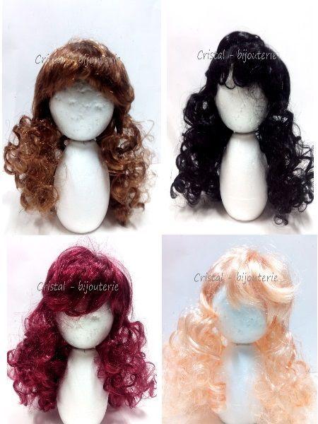 peluca larga rizada, muñecas, fofuchas, elige color. para diametro ...