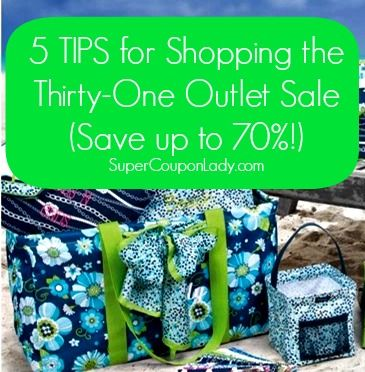5 TIPS for Shopping the Thirty-One Outlet Sale (Save up to 70%!) http://www.supercouponlady.com/2013/07/5-tips-for-shopping-the-thirty-one-outlet-sale-save-up-to-70.html/