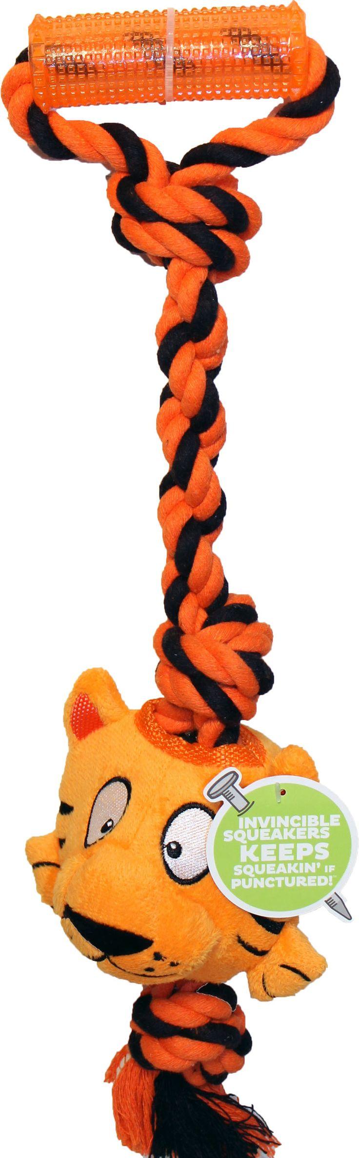 Tuggerz Tiger Interactive Toy W/invincible Squeak