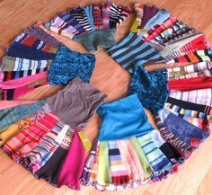 Great for nieces! How to Make Upcycled Clothing | Twirly Fabulous Upcycled Sweater Skirts - Try Handmade