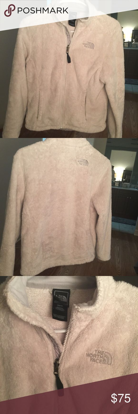 New Off-White North Face furry jacket Only worn twice. In great condition. Off white north face jacket perfect to stay warm North Face Jackets & Coats