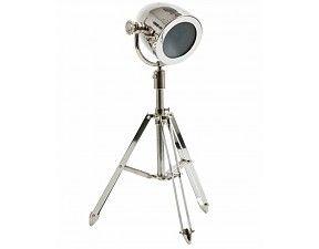 Voetlamp studiolamp driepoot Taylor H70 Nikkel