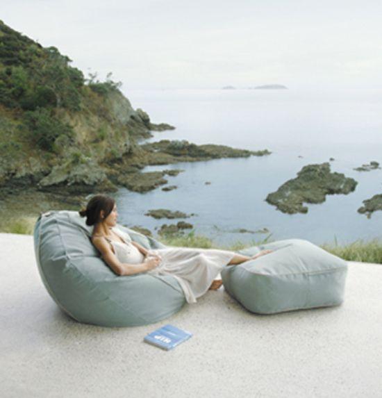 Marine Bean Bags Eco Chic Outdoor Furniture l Patio Furniture