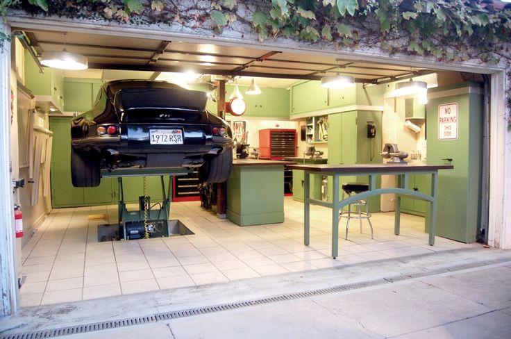 One of the best garages in the biz!   garage porsche DIY metal fab