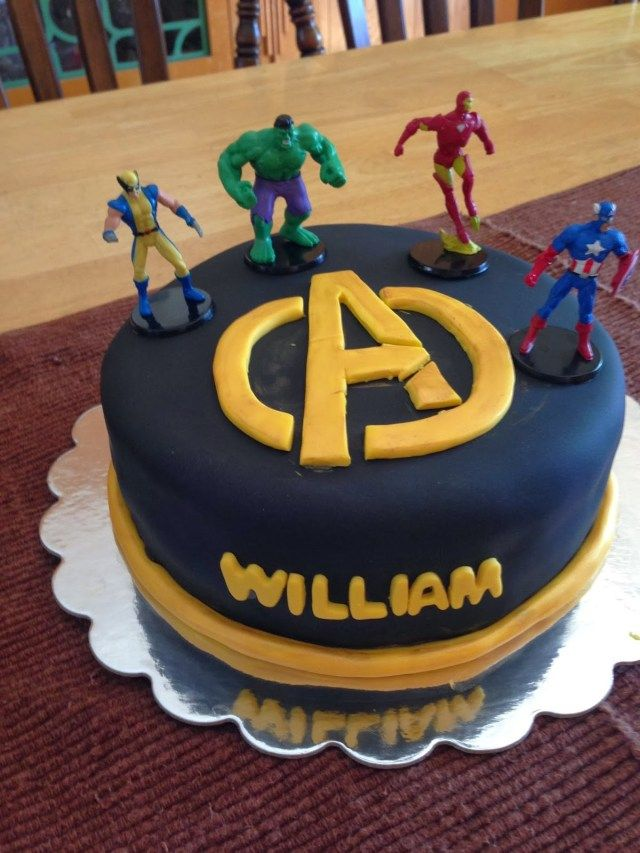 Wondrous 32 Wonderful Image Of Avengers Birthday Cake With Images Funny Birthday Cards Online Alyptdamsfinfo