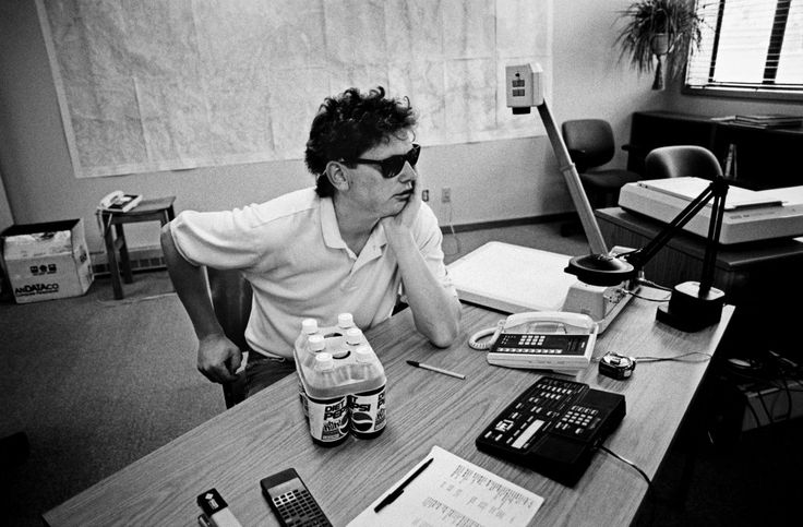 """9.  Caption:Bill Joy Is Worried About the Future of the Human Race. Aspen, Colorado, 1998. Menuez: """"Legendary programmer and co-founder of Sun Microsystems, Bill Joy, wrote Berkeley Unix while a student at UC Berkeley and helped the US Defense Department with the TCP/IP stack code that allowed email to travel along the path of least resistance in case of nuclear attack.""""DOUG MENUEZ"""