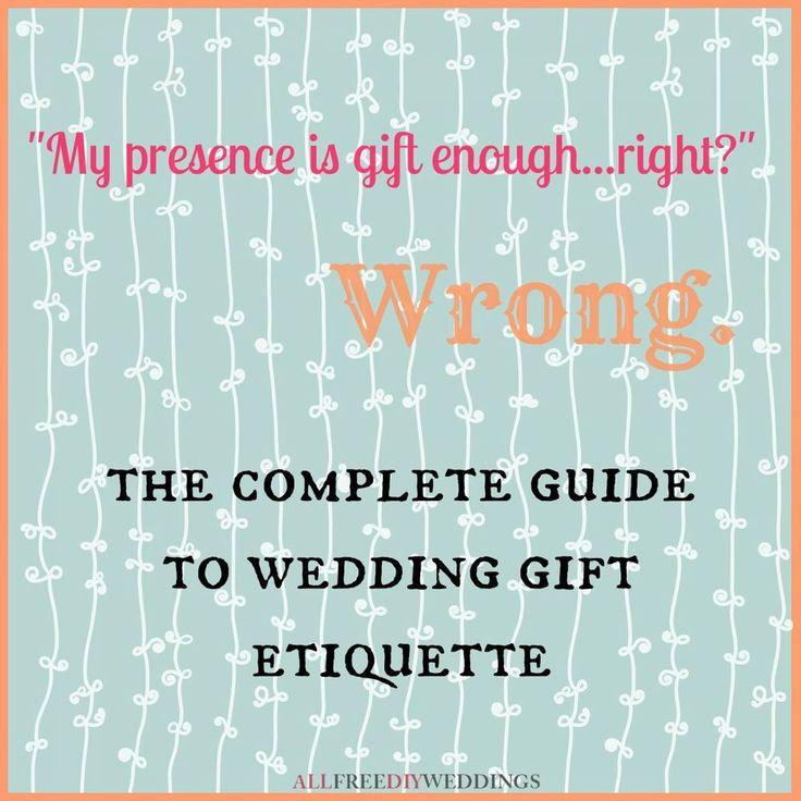 The 25 Best Wedding Gift Etiquette Ideas On Pinterest