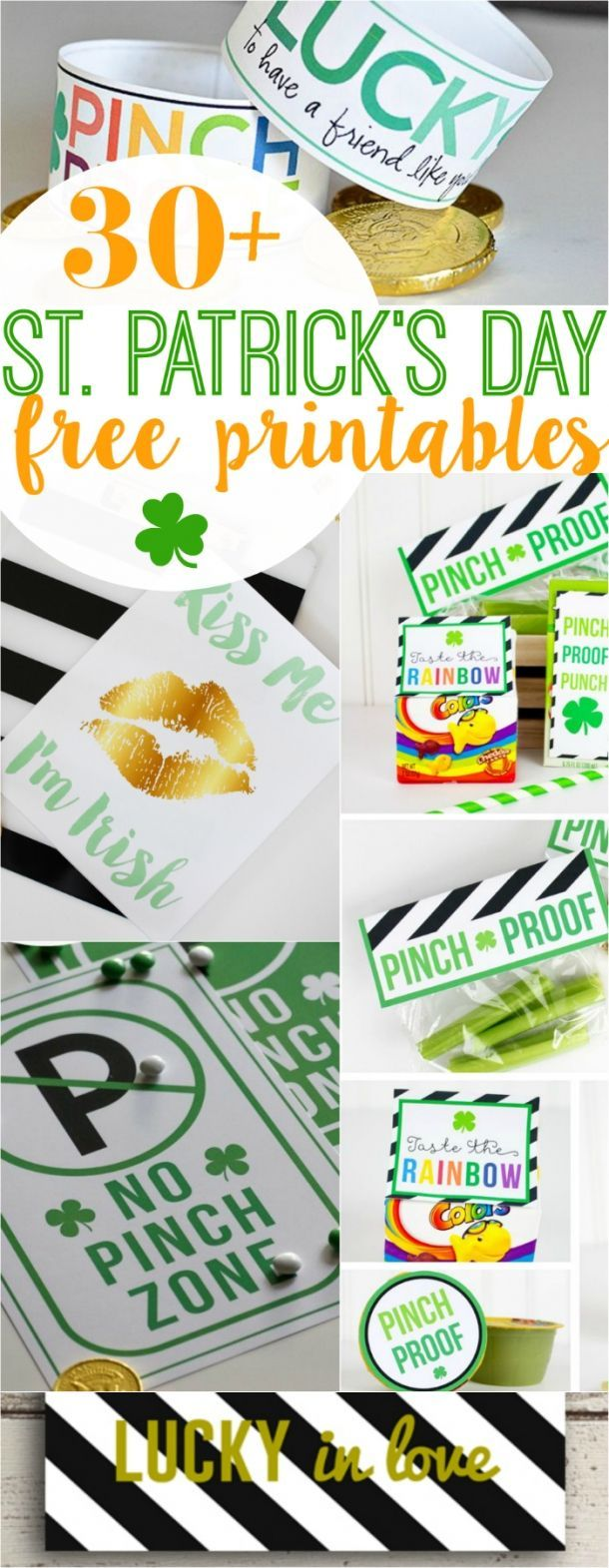 30+ St Patricks Day FREE printables! Your one stop for all things green and lucky! Lots of cute home decor ideas and fun kid activities for St Patrick