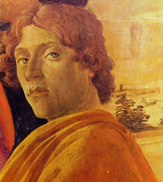 Sandro Botticelli, Adorazione dei Magi,particolare presunto autoritratto