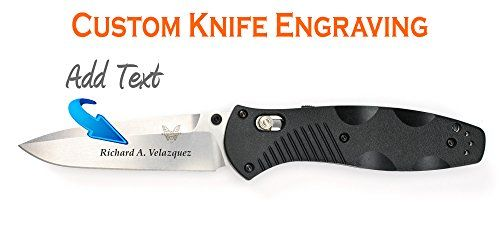 Specs: Blade Length: 3.60 Blade Material: 154CM Stainless Steel Handle Material: Valox Weight: 4.20oz. Lock Mechanism: AXIS-ASSIST Lock Overall Length: 8.35 Closed Length: 4.75 Made in USA  Features  Price includes custom direct-to-metal fiber laser engraving  Personalized with the text you select  Great for Corporate Giveaways or Personalized Gifts  Made in the USA  Spring assisted model that combines speed and strength