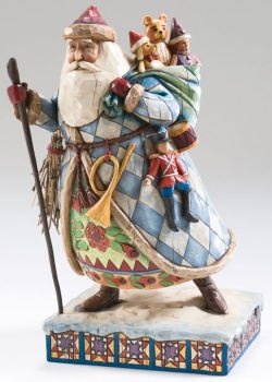 Bringing Christmas Joy - Santa with staff and sack of toys - by Jim Shore - (Christmas, figurine)
