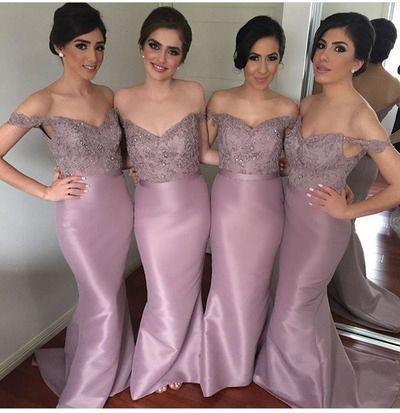 Off The Shoulder Mermaid Custom Made Bridesmaid Dresses,Bridesmaid Dresses,Bridesmaid Dresses