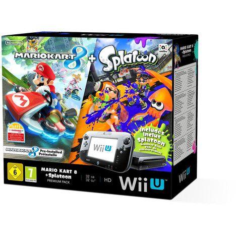 Console Auchan pas cher, achat Console Wii U + 2 jeux Spatoon + Mario kart 8 prix promo Auchan 279.99 €
