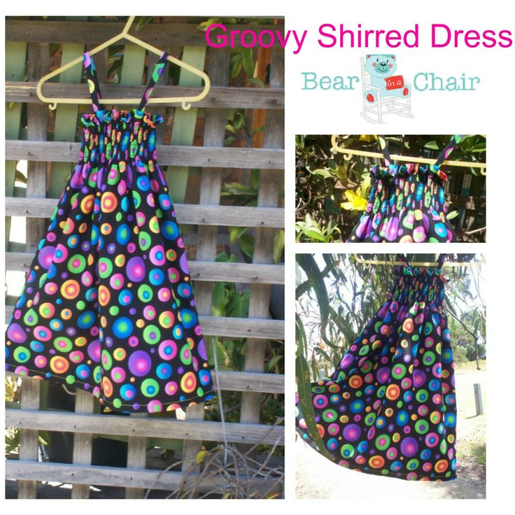 Handmade By Bear In A Chair Groovy Shirred Dress