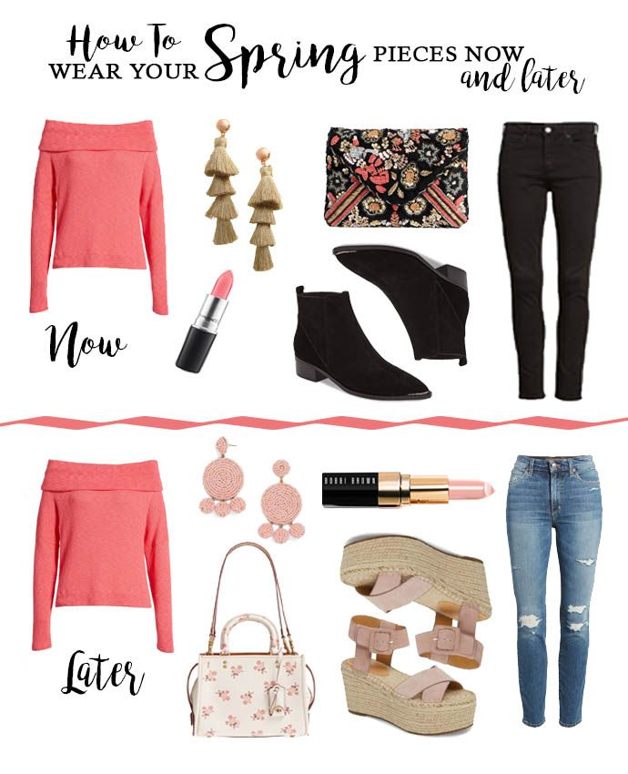 7c53e034d38c8 How to Wear Spring Pieces Now...And Later | A Blonde's Moment Wednesday  Wishes Inspiration | Spring outfits, Early spring outfits, Winter outfits