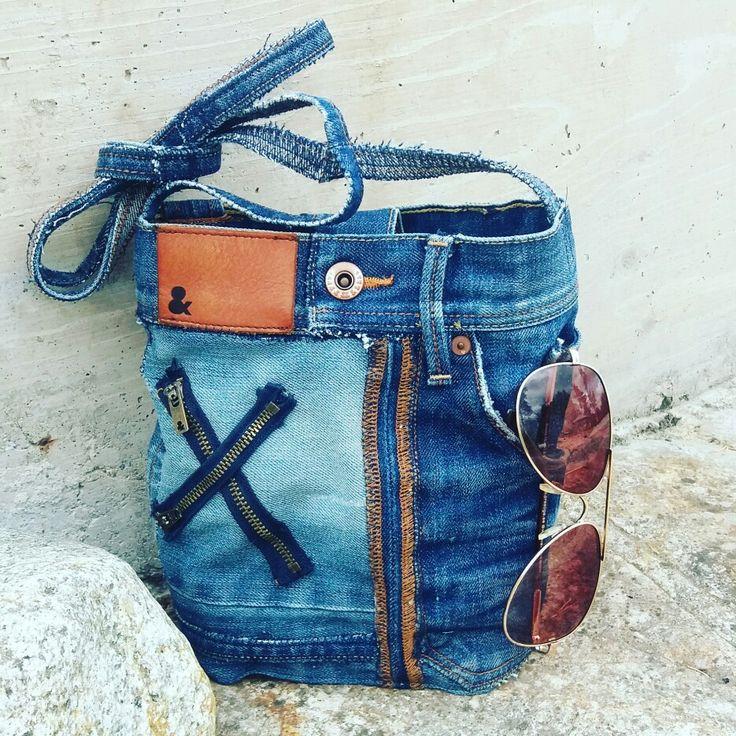 MannaDsign, väska av återbrukade jeans