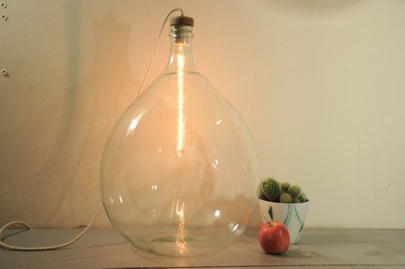 Hey, I found this really awesome Etsy listing at https://www.etsy.com/se-en/listing/249420324/floor-lamp-vintage-glass-lamp-demijohn