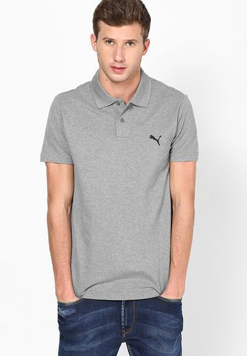 Best Polo Neck Cotton Grey Colored Casual T-Shirts By Puma @ Rs 999
