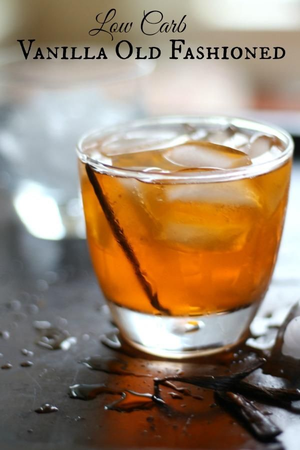 This low carb vanilla old fashioned is a delicious twist on a classic cocktail. From Lowcarb-ology.com