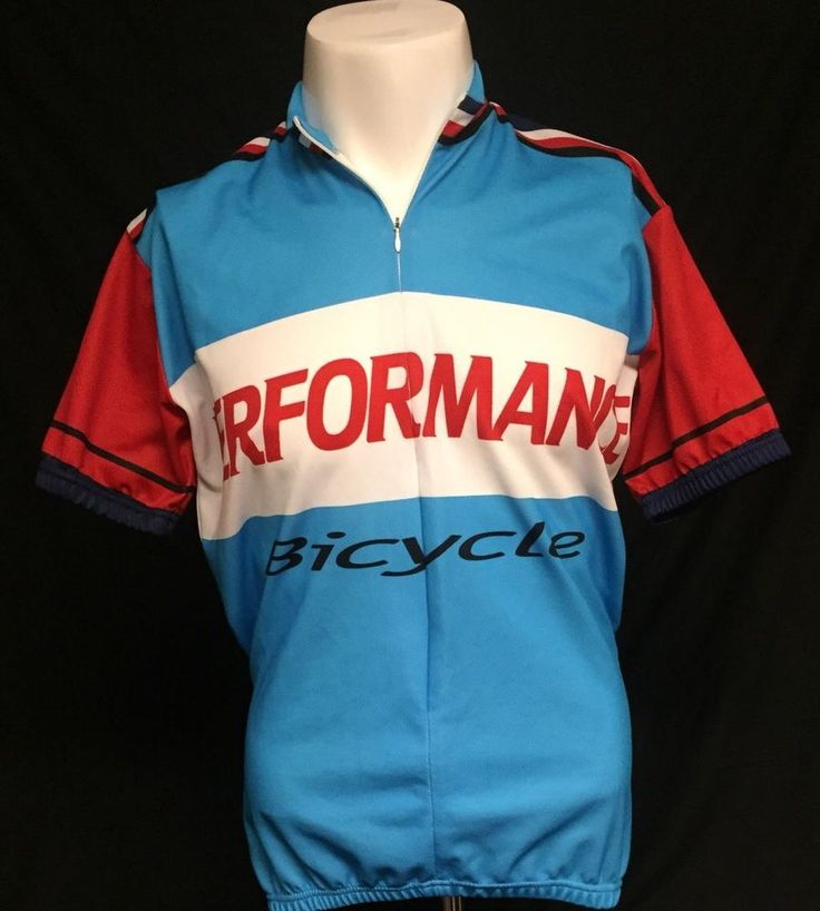Performance Bicycle Red White Blue Large Cycling Jersey #WorldJerseys