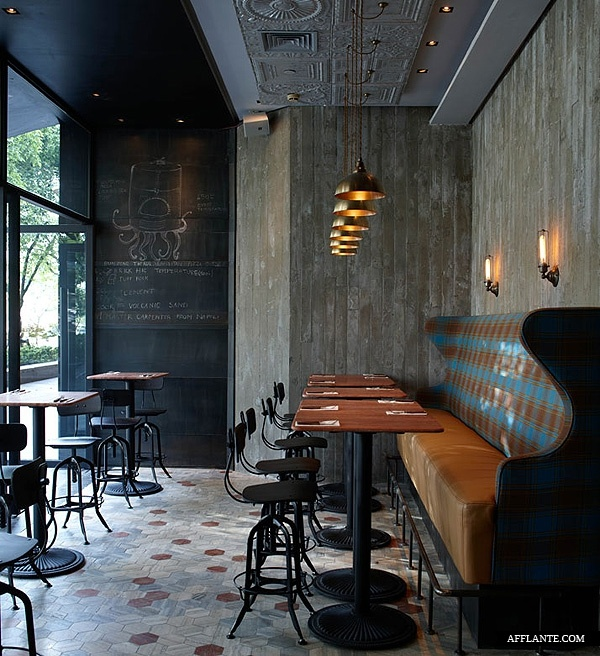 Matto bar pizzeria in shanghai designed by pure creative international i love the mix of patterns textures and raw materials with the more designed