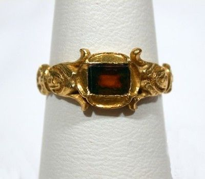 Exceptionally Rare Tudor Ring of Gold - The Three Graces.