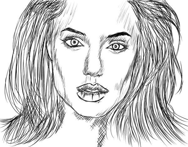 Outra tentativa de retratar a Angelina Jolie.