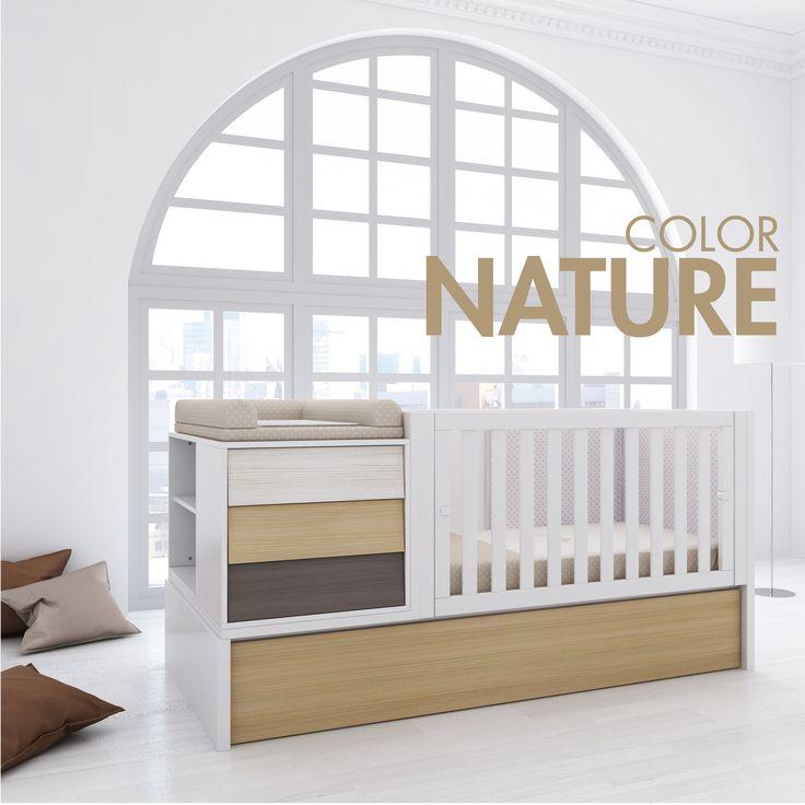 Cuna convertible de beb color nature colecci n art - Habitacion completa bebe ...
