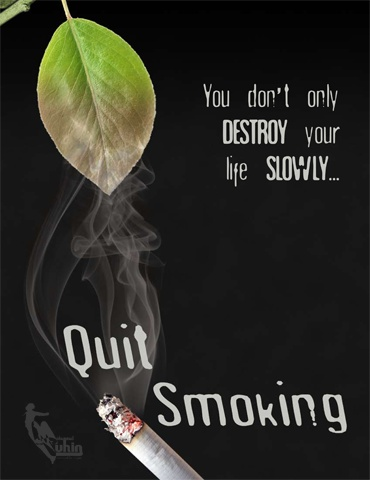 Quit smoking AD by Mohammad Tuhin, via Behance
