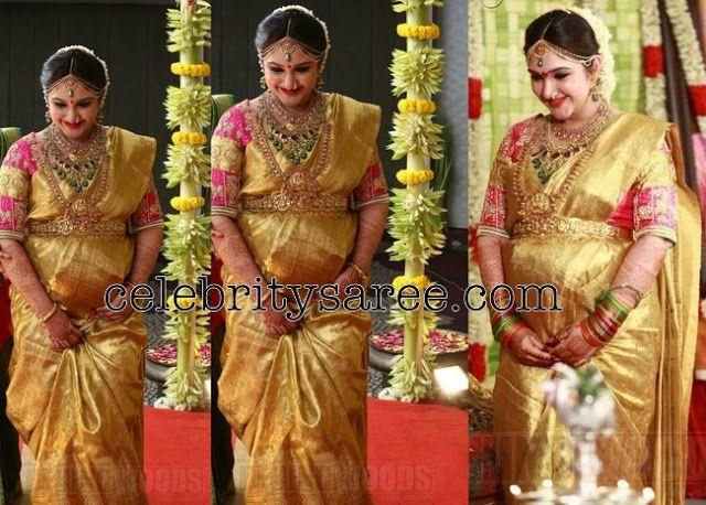 Sridevi Vijaykumar Baby Shower Sari - Saree Blouse ...