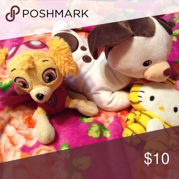 Pokey Puppy, Skye from Paw Patrol & Hello Kitty Pokey Puppy, Skye from Paw Patrol & Hello Kitty Stuffed Animals Hello Kitty Other
