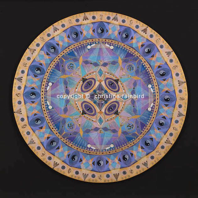 Self-Empowerment: activates the wisdom and remembrance that all power is held within. Standing in one's own power is quite different than seeking it from another. The energies of this Mandala will assist you to be a fully empowered creative force knowing you have the ability within yourself to manifest all your needs.