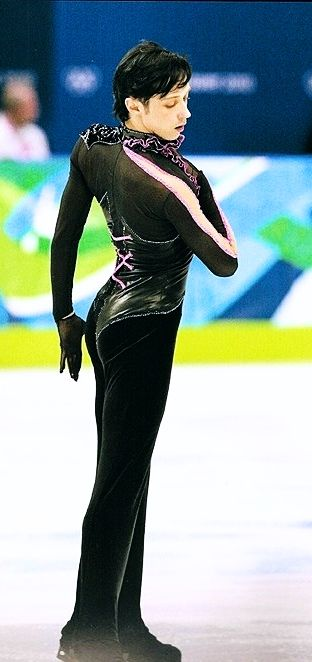 Johnny Weir (USA) competing in the Short Program of the 2010 Olympics in Vancouver, Canada.