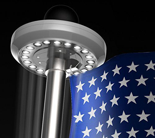 Hoont™ Bright LED Solar Powered Flag Pole Light (20 LEDs) - Auto On/Off