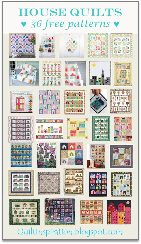 Free pattern day! House quilts